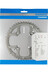 Shimano Deore FC-M510 Klinger 104 mm sølv